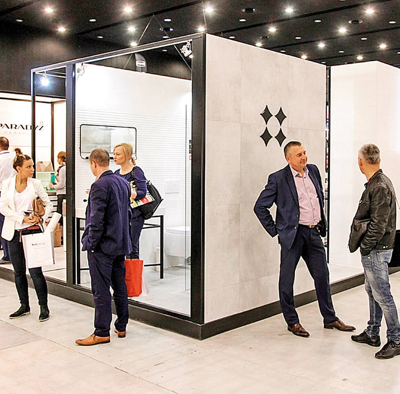 Ceramika Paradyż's stand at 4 Design Days. The event is organised in Katowice.