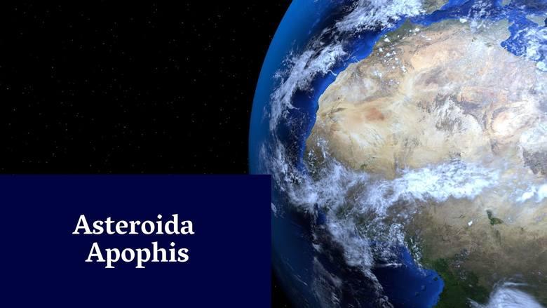 Asteroida Apophis Asteroida Apophis ma największe ryzyko zderzenia się z naszą planetą już w 2029 roku. Wtedy Apophis zbliży się do Ziemi na ok. 30 tys.