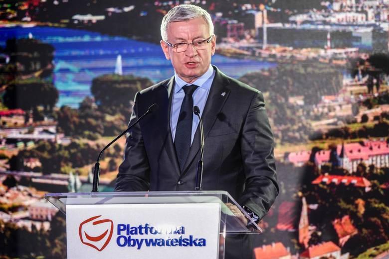 Jacek Jaśkowiak podczas ogłoszenia wspólnego startu PO i Nowoczesnej w wyborach samorządowych pod szyldem Koalicji Obywatelskiej.