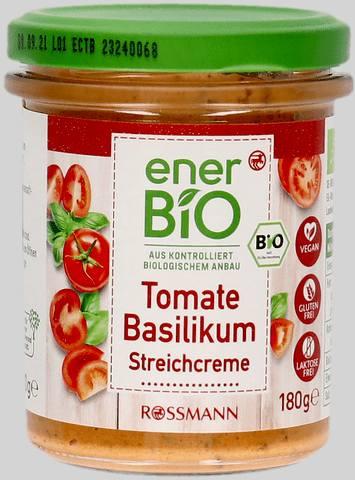 Wycofany produkt: enerBiO pasta kanapkowa pomidor-bazylia 180 g EAN 4305615677521