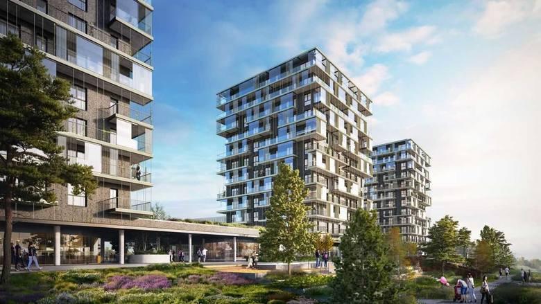Pierwsza DzielnicaPierwsza Dzielnica to osiedle mieszkaniowe, które firma TDJ Estate buduje na północ od Strefy Kultury w Katowicach. Trzy 12-kondygnacyjne