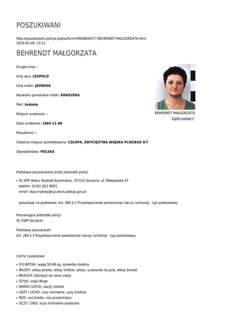 Oto lista kobiet, które poszukiwane są przez Komendę Wojewódzką Policji w Szczecinie. Materiał przygotowany na podstawie strony poszukiwani.policja.