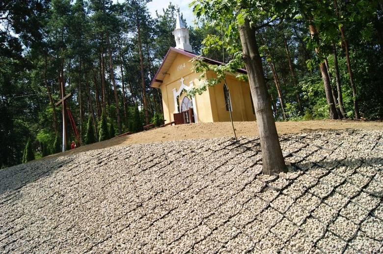 Kapliczka w miejscowości Piechoty