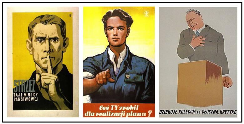 W epoce PRL-u propagandyści tworzyli plakaty skierowane do różnych grup społecznych i zawodowych, które miały zdopingować ich do bardziej wytężonej pracy,