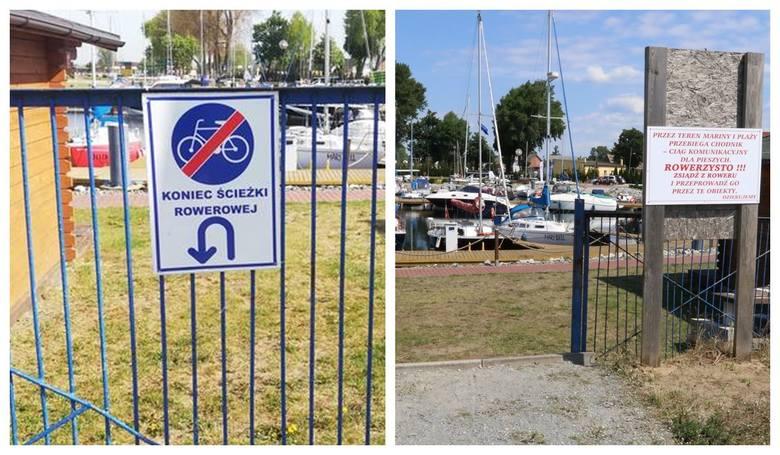 Koniec afery z rowerami na marinie w Lubczynie. Brama została otwarta
