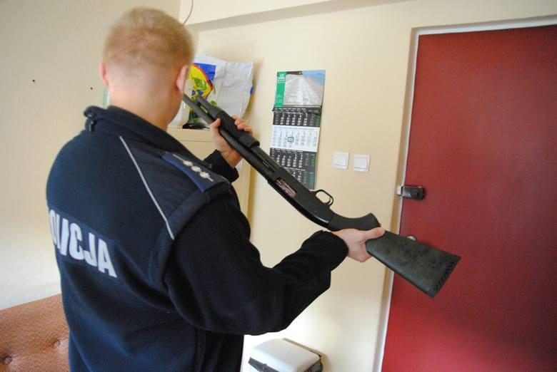 Z tej broni bandyci postrzelili właściciela