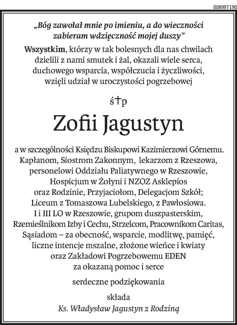 Nekrologi i kondolencje z dnia 1 kwietnia 2019 roku