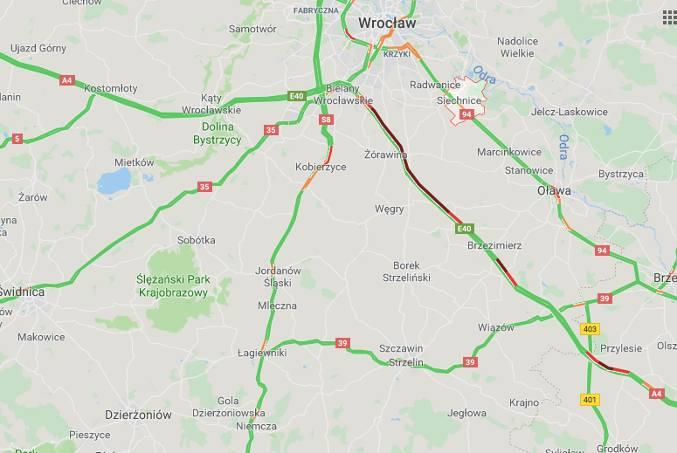 Korek na autostradzie A4 pod Wrocławiem ma już 15 km!