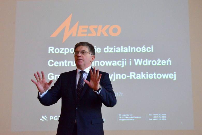 Waldemar Skowron, prezes Mesko podkreślał znaczenie nowego Centrum Innowacji dla rozwoju nauki i przemysłu.
