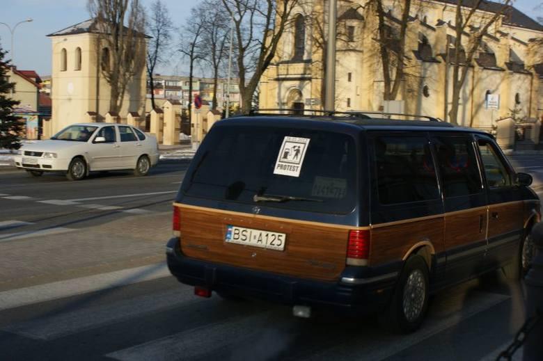 Protest kierowców w Grajewie [FOTO]