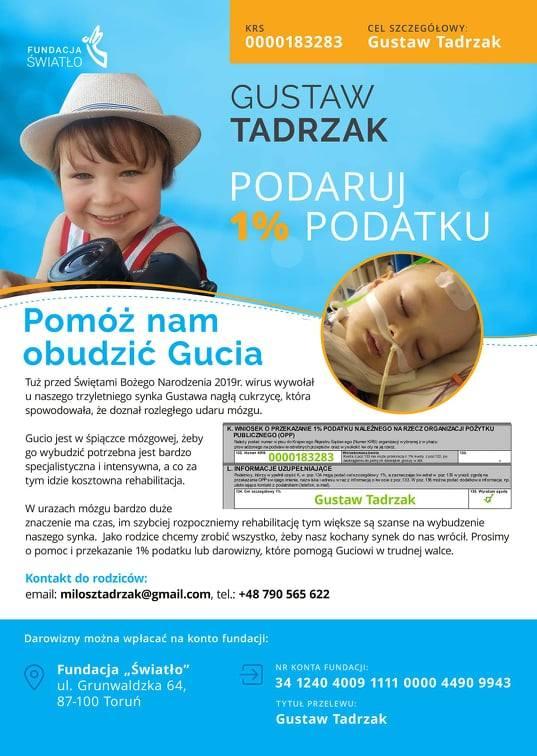 Trzyletni Gucio nagle zapadł w śpiączkę. Rodzice walczą o jego zdrowie - szybka rehabilitacja pomoże go wybudzić. Trwa zbiórka na Zbiórka.pl