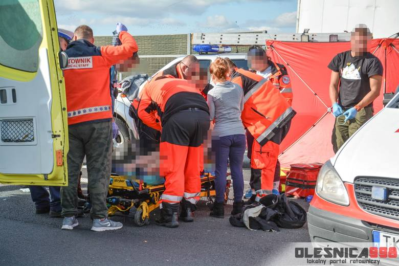 Wypadek na S8. Reanimacja motocyklisty trwała godzinę! (ZDJĘCIA)