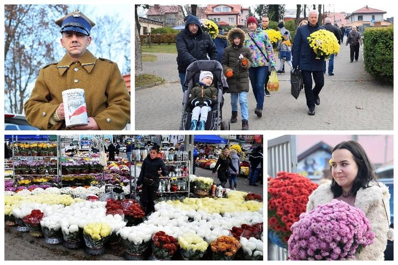 01.11.2019, czyli dzień Wszystkich Świętych tradycyjnie przyciąga na Cmentarz Miejski w Białymstoku tysiące odwiedzających groby. Kapłani święcą groby,