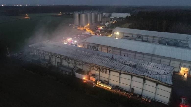 Krotoszyn: Wielki pożar w Białym Dworze. Z ogniem walczyło 19 zastępów straży [ZDJĘCIA]