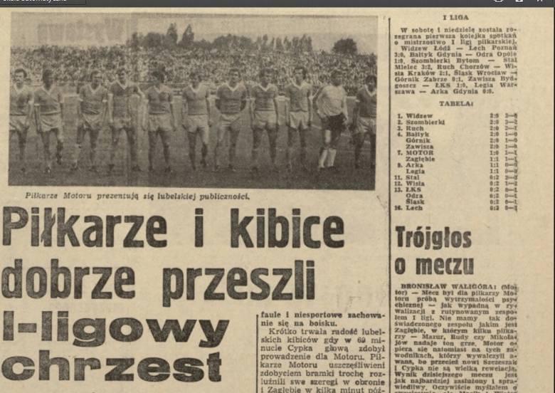 70-lecie Motoru Lublin: W pierwszej lidze zaczęli i zakończyli meczem z Zagłębiem Sosnowiec