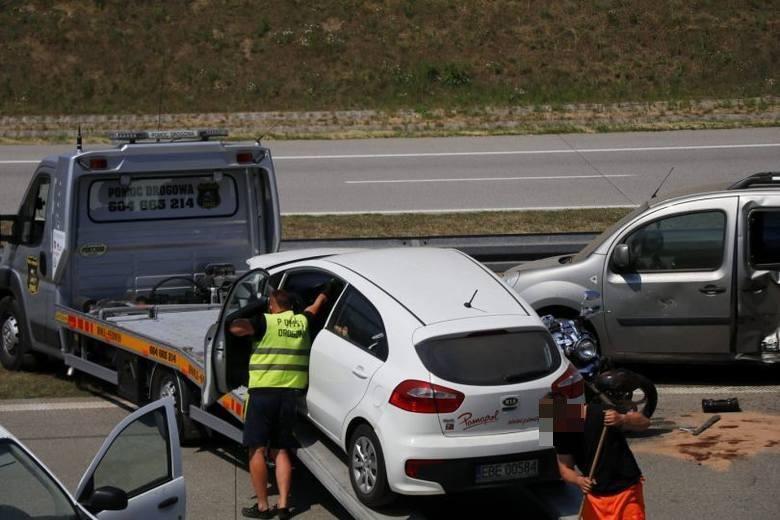 Wypadek na autostradzie A1. W kierunku Gdańska tworzą się olbrzymie korki