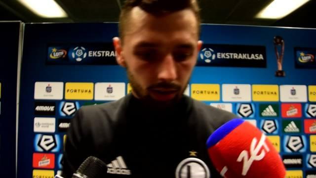 Mateusz Wieteska po meczu Legia - Pogoń: Jesteśmy wkurzeni