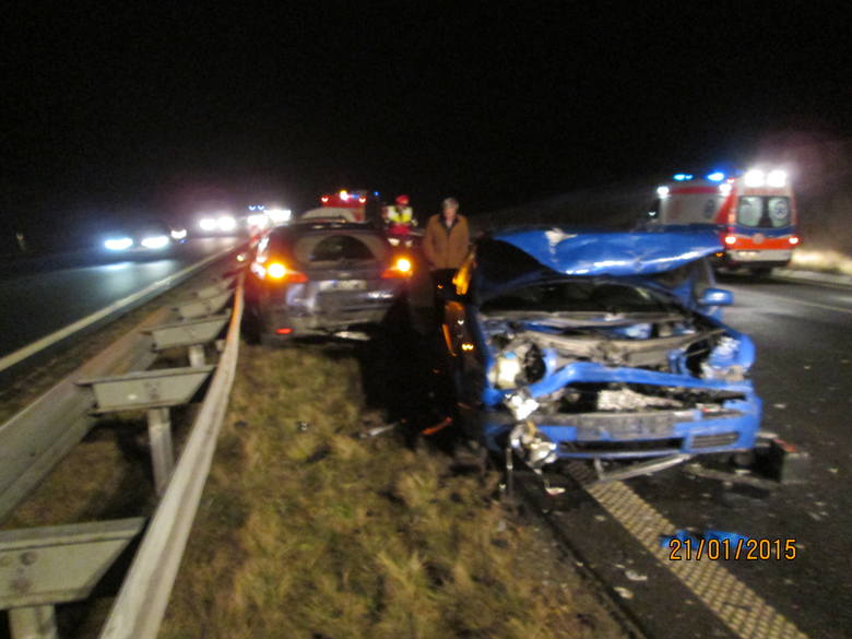 Wypadek na A4 koło Bochni.