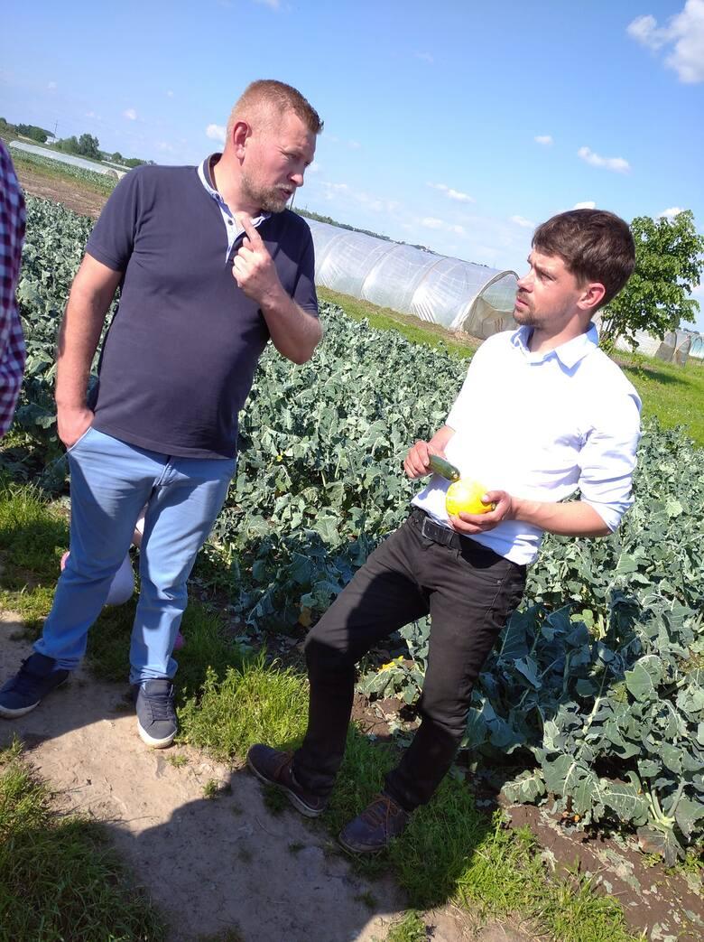 Spotkanie rolników z Michałem Kołodziejczykiem, przewodniczącym  AGROUNII