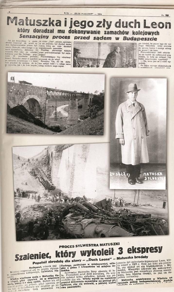 Z kart historii: Wykolejał pociągi, zabił dziesiątki ludzi. Sylwester Matuszka przed sądem