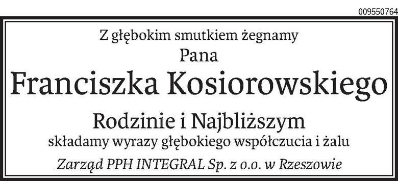 Nekrologi i Kondolencje z dnia 29 stycznia 2020 roku