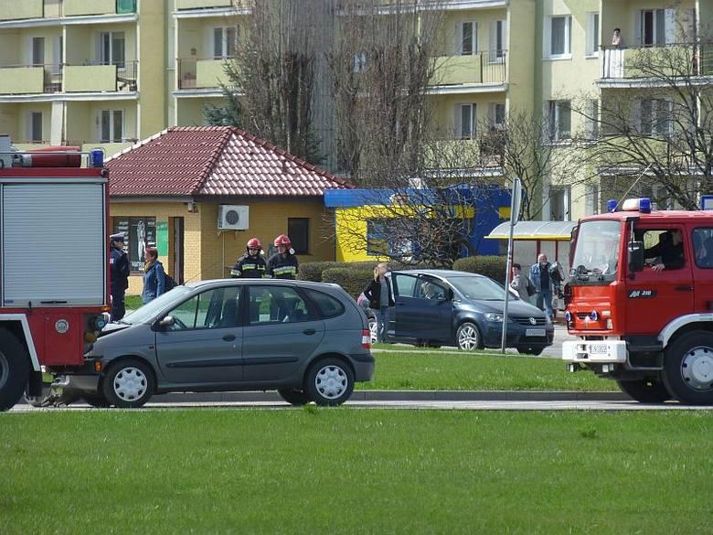 Wypadek w centrum Inowrocławia [zdjęcia]