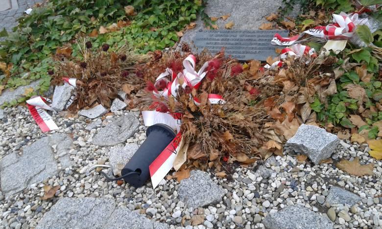 Uschnięte kwiaty szpecą skwer Solidarności w Opolu