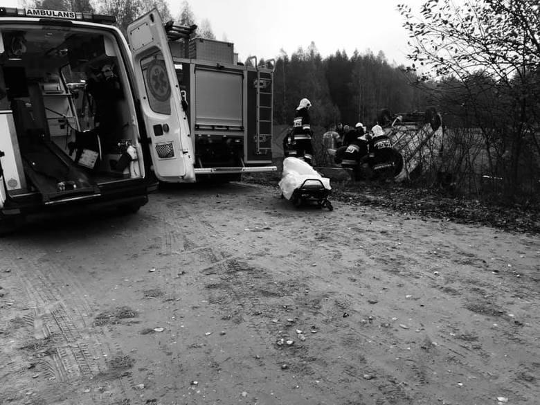 Borsukówka. Wypadek drogowy w gminie Dobrzyniewo Duże