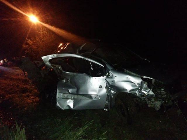 Tak wyglądał wrak samochodu po wypadku
