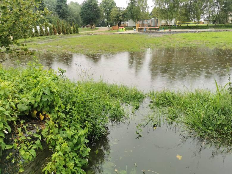 Drzewo zablokowało DK 52, zalało Biedronkę. Potoki i studzienki już nie wytrzymują naporu wody [ZDJĘCIA]  AKTUALIZACJA