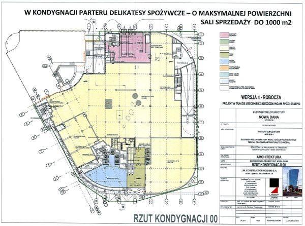 Przedstawiciele JW. Construction podkreślają, że z powierzchni 37,5 tys. na handel projektanci przewidzieli 12 tys. m kw. W planie zagospodarowania jest