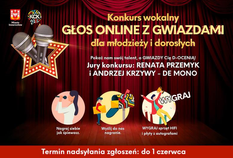"""""""Głos online z gwiazdami"""". Wyślij film jak śpiewasz, w jury Renata Przemyk i Andrzej Krzywy"""