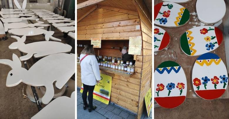 Na zdjęciach prezentujemy ozdoby wielkanocne przygotowywane przez Służby Komunalne Miasta, które wkrótce zobaczymy na ulicach Wodzisławia Śl. Są też