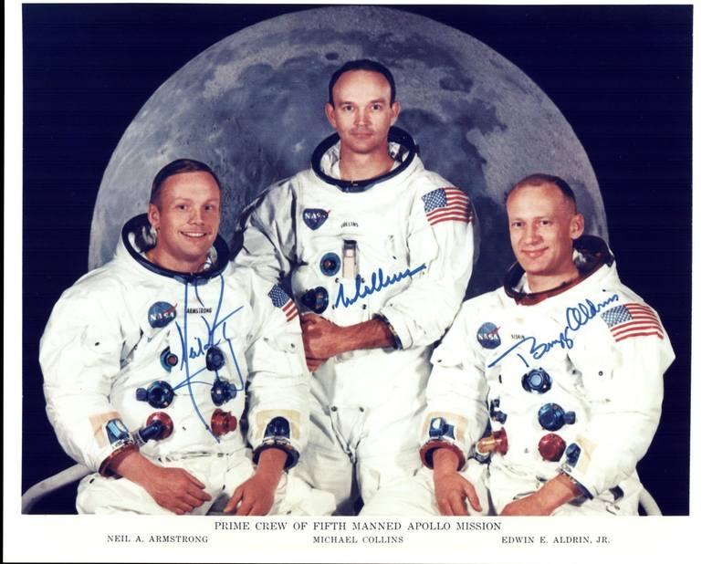 Członkowie misji (od lewej): Neil Armstrong, Michael Collins, Edwin Aldrin.
