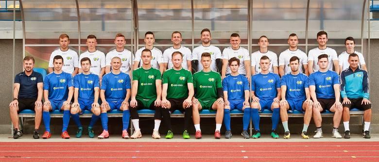 W górnym rzędzie (od lewej): J. Ząbkiewicz, Kaczmarski, Baran, Sz. Słysz, Lorenc, Niemczyk, Tabisz, Lusiusz, Gadomski, Karol Adamiak, K. Słysz. W dolnym