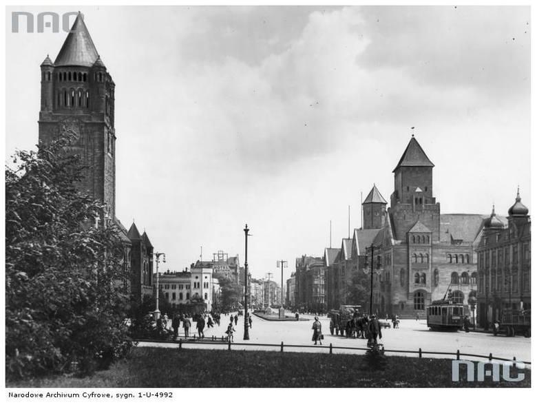 Ulica Wjazdowa (dzisiaj Św. Marcin) - 1935 rok