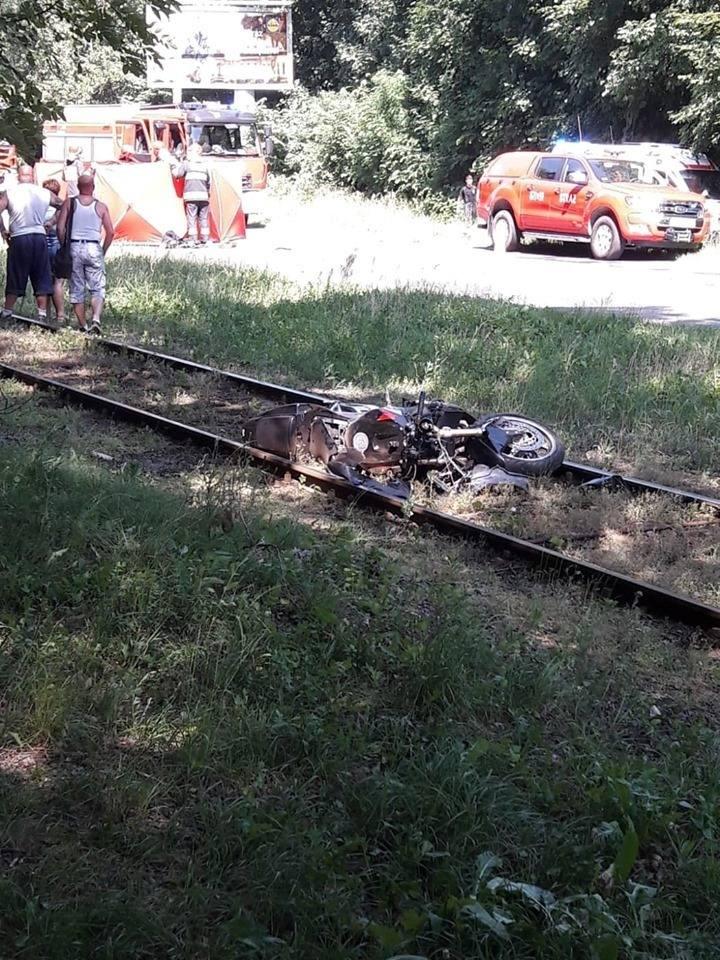 Wypadek w Sosnowcu. Motocykl śmiertelnie potrącił kobietę