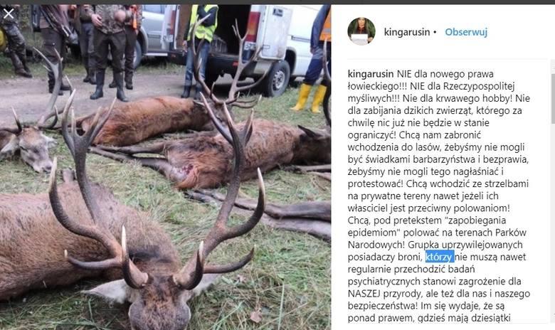 Kinga Rusin kontra Jan Szyszko i prawo łowieckie: Śmieją się nam w nos!