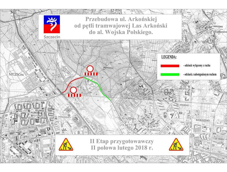 Rusza wielka przebudowa ul. Arkońskiej w Szczecinie. Powstanie nowoczesna trasa [TERMINY, OBJAZDY, MAPY]