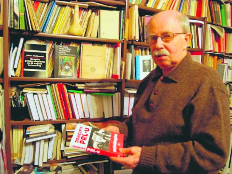 Historyk prof. Michał Lis, urodzony w Opakach pod Złoczowem, zapamiętał anegdoty związane z brykami Zukerkandla.  Fot. Małgorzata Lis-Skupińska