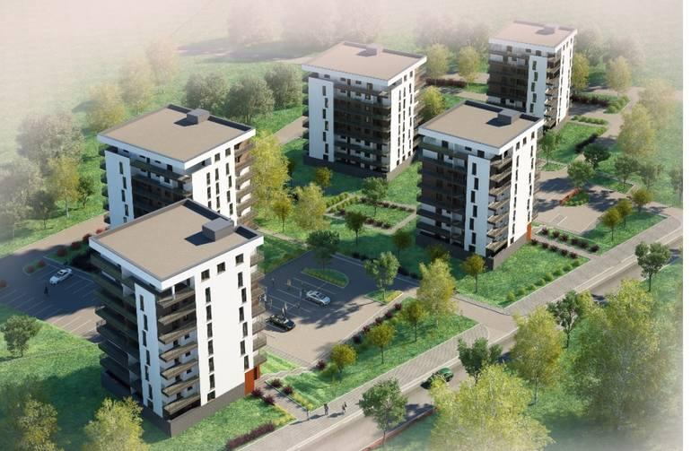"""Nowe budynki mieszkalne będą kontynuacją kompleksu """"Słoneczny Stok"""", który zrealizowano już w rejonie ulic Krośnieńskiej, Leskiej,"""