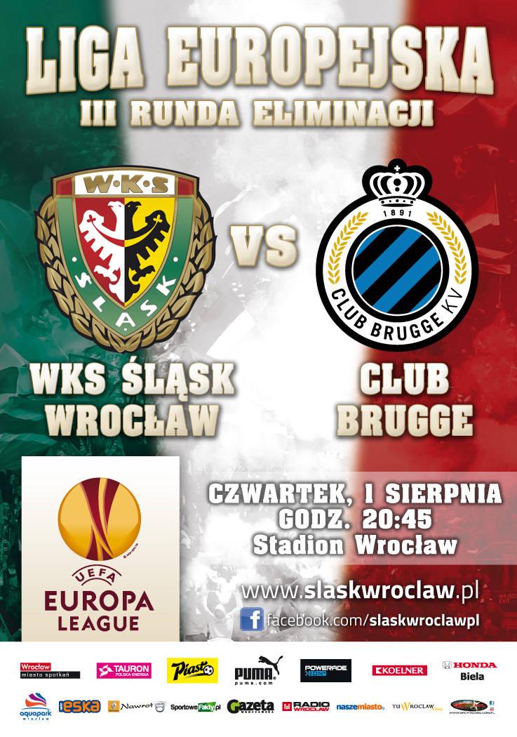 Śląsk - Club Brugge. Belgowie zaczynają dziś ligę