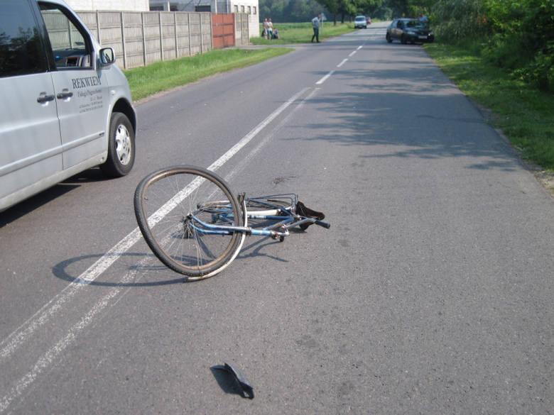 84-letni rowerzysta zginął na miejscu.