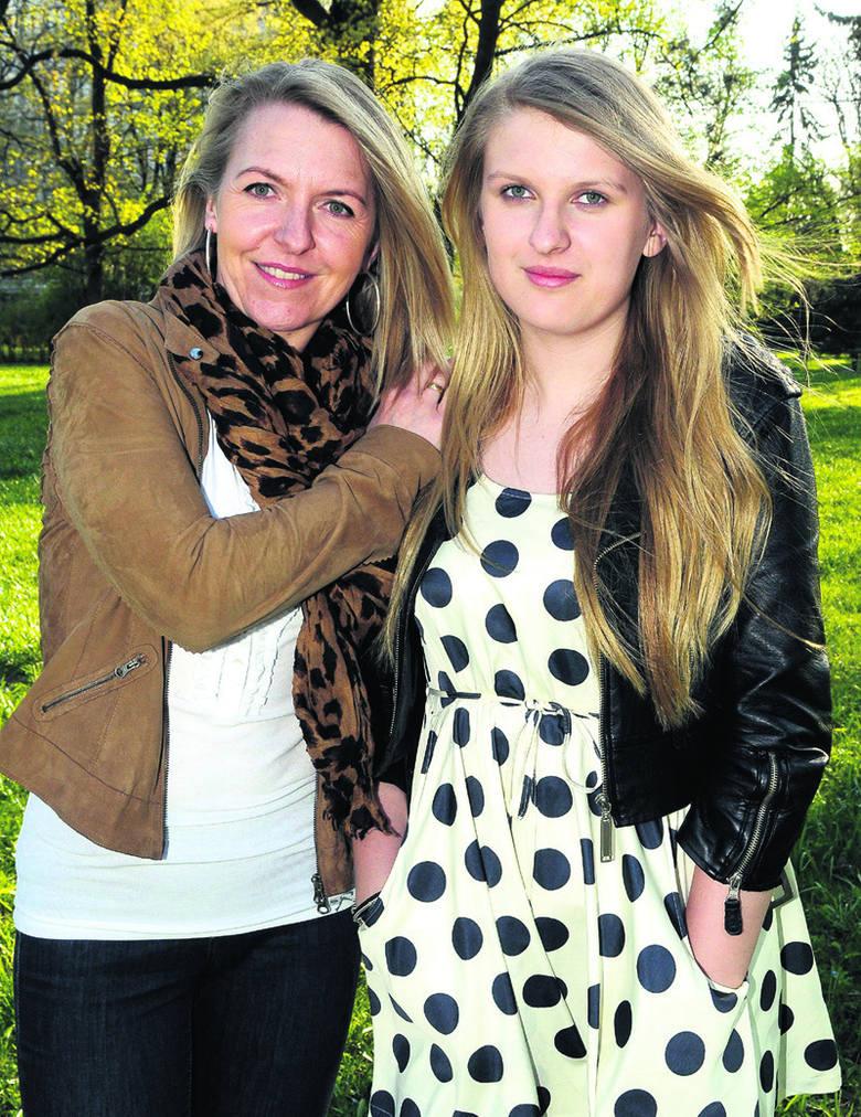 Anna Gęsicka z córką Klaudią Nastagą (z Łodzi). Pani Ania prowadzi własną działalność gospodarczą. Klaudia uczy się w XXIX LO. Interesują się m.in. modą,