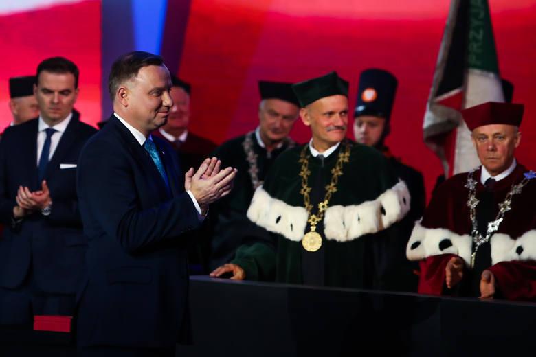 Kraków. 100-lecie Akademii Górniczo-Hutniczej. W uroczystości wziął udział prezydent Andrzej Duda [ZDJĘCIA]