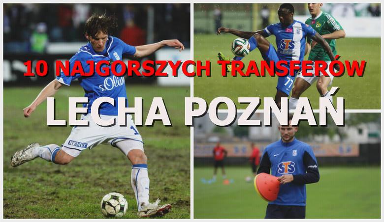 W ostatnich latach Lech Poznań ściągał bardzo dobrych zawodników, ale zdarzało się także pozyskiwać piłkarzy, którzy okazali się kompletnymi niewypałami.