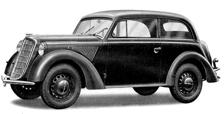 Opel Olympia miał premierę w roku 1935. Jego nadwozie w oczywisty sposób zainspirowało Francuzów, ale… w 1938 projektanci Opla skopiowali z kolei kilka pomysłów stylistycznych Juvaquatre, modernizując Olympię