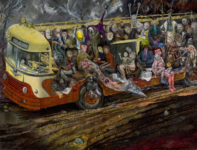 """""""Autobus"""" - słynny obraz Bronisława Wojciecha Linkego na wystawie w CSW"""