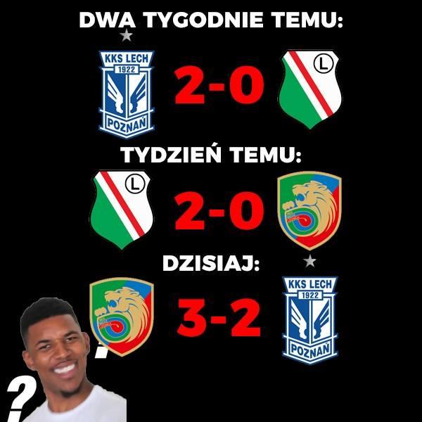 W 25. serii gier największe rozczarowanie sprawił Lech Poznań. Drużyna Adama Nawałki przegrała z broniącą się przed spadkiem Miedzią Legnica 2:3. To
