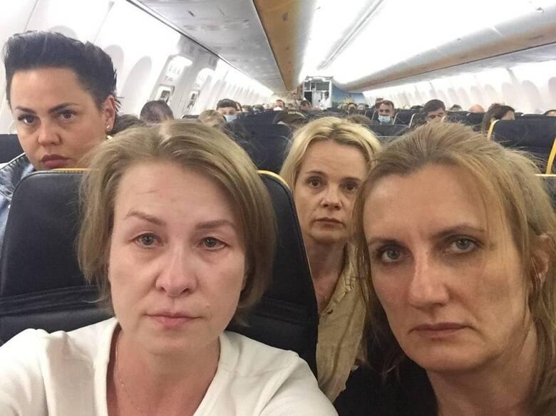 Podlasianki na podkładzie samolotu zatrzymanego w Mińsku przeżyły chwile grozy